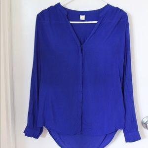 Royal blue light blouse